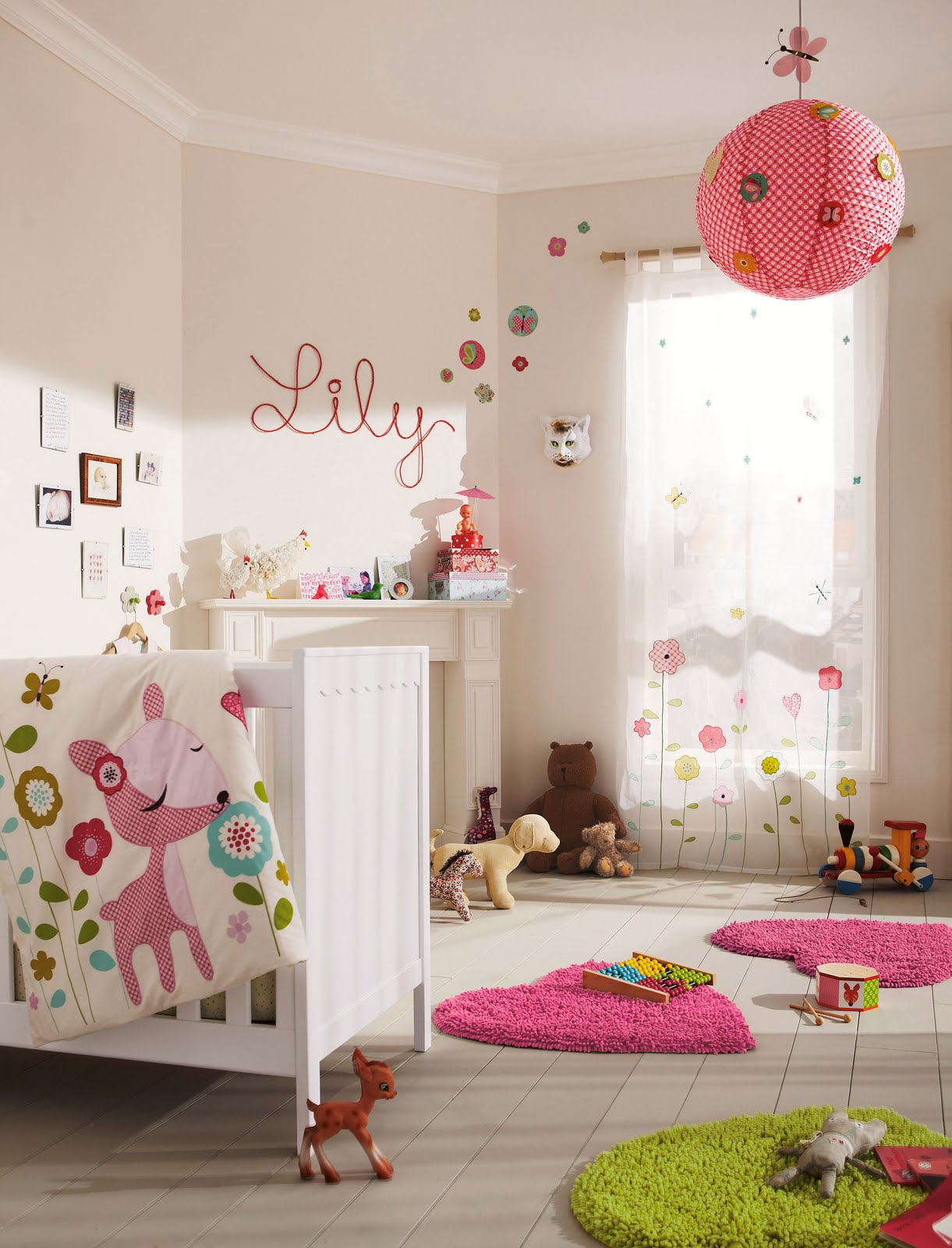 Pompons ch rie sheriff blog lifestyle mode famille for Photo decoration chambre bebe fille