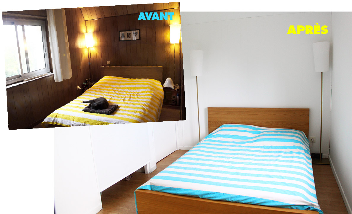 La chambre parentale et le coin b b apr s r am nagement for Agencement chambre adulte