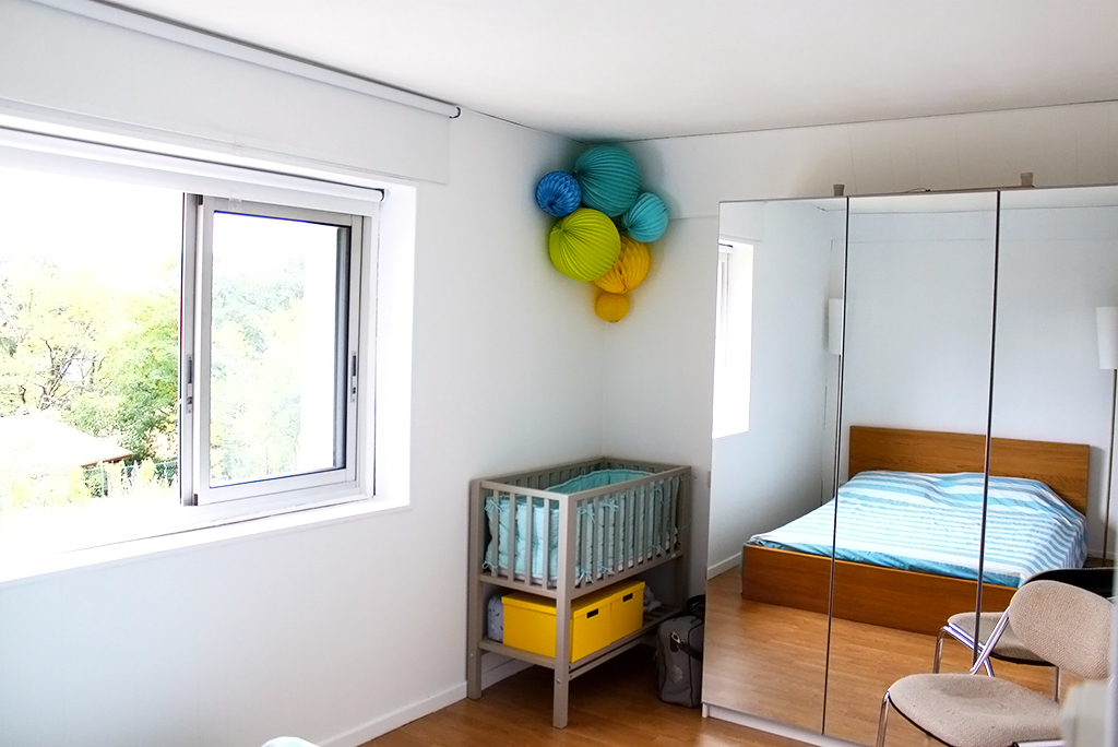 La chambre parentale et le coin b b apr s r am nagement for Separation chambre parents bebe