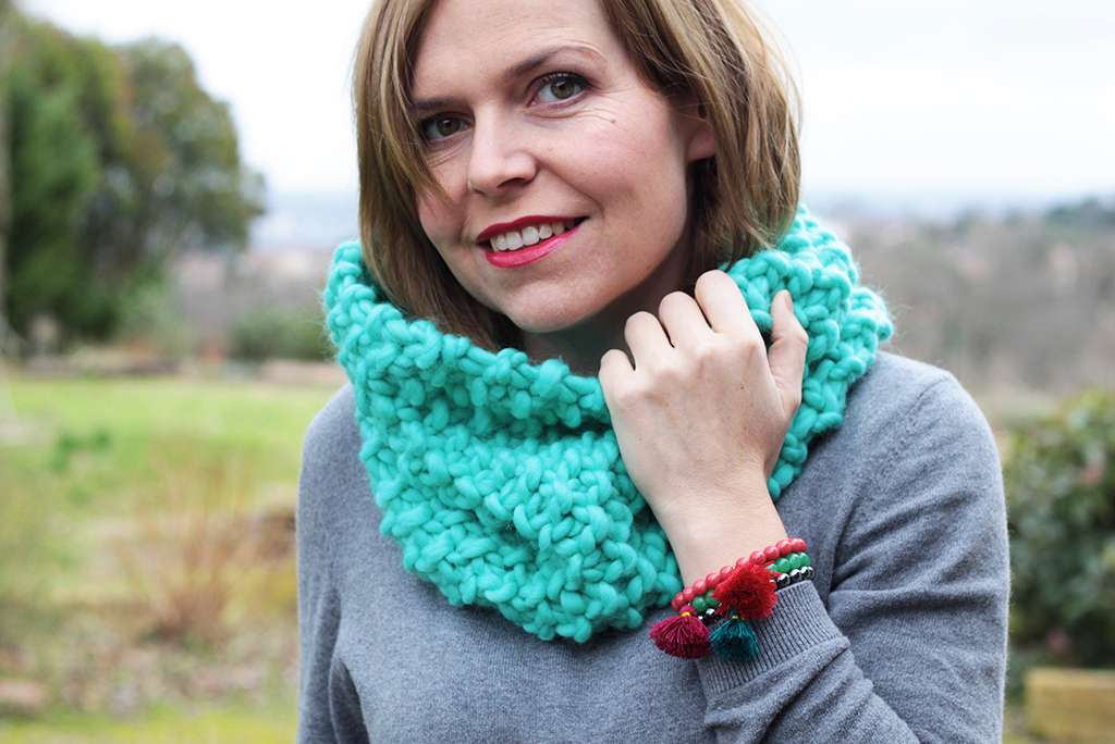Tricoter un snood pour les d butantes avec we are knitters ch rie sheriff blog - Tricoter un snood debutant ...