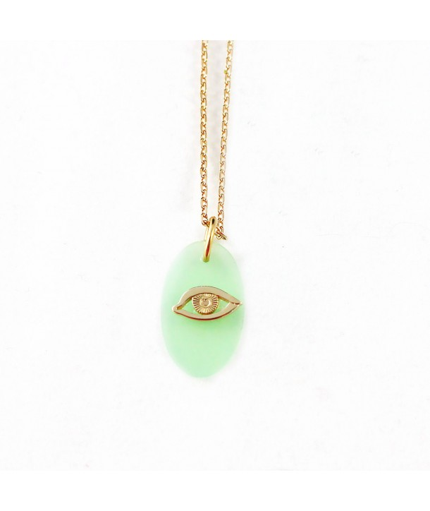 Collier Oeil mint